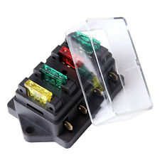 12V/24V 4 Way Blade Fuse Box Block Holder Circuit Standard Car Truck Automotive
