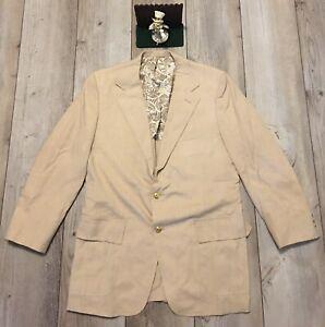 Vintage 90s Brown Plaid Sport Jacket 46 R Mens As Is
