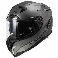 LS2 Challenger FF327 Solid Matt Titanium Motorbike Motorcycle Helmets