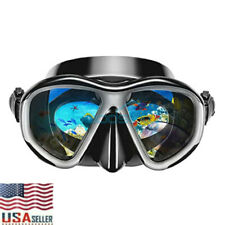 Anti-Fog Scuba Frameless Dive Mask Dry Snorkel Gear Set Snorkeling Spearfishing