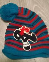 baby bobble blue  hat winter warm boys beanie cap Slouch 6-12 months NEW
