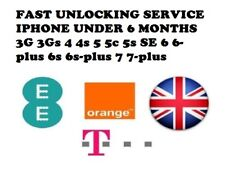 UNLOCK IPHONE 4,5,5S,5C,6,6+,6S,6S+,7,7+ AT EE TMOBILE & ORANGE UK UNDER 6 MONTH