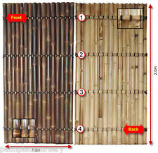 BAMBOO FENCING PANEL SCREEN FENCE BULK PACK x10 (2m x 1m)