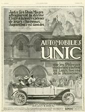 """AUTOMOBILES UNIC"" Annonce originale entoilée ILLUSTRATION 7/12/1912 A. EHRMANN"