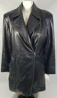 Wilson Pelle Studio Black Leather Removable Thinsulate Zip Jacket sz M