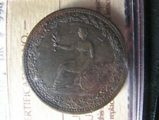 LC-54D2 ICCS MS-60 Halfpenny token 1815 Lower Bas Canada Quebec Breton 994