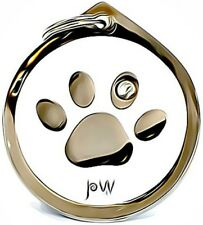 Beautiful Paw Design Pet Dog & Cat ID Collar Name Tag Disc. Engraving Available