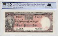 1960 Australia 10 Pound note Coombs/Wilson EF 40 PCGS PICK# 36a S/N WA53 110032