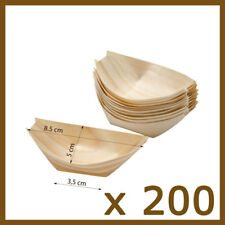 x 200  Bamboo SMALL  Serving  BOATS Wooden Food  Canape Wood Finger SYDNEY