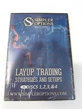 SEALED SIMPLER OPTIONS LAYUP TRADING STRATEGIES AND SETUPS DISCS 1,2,3,& 4 DVD'S