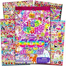 Lisa Frank Stickers Vintage 90's Style Decals 5 Sheets Sticker Lot Glossy NEW 🦄