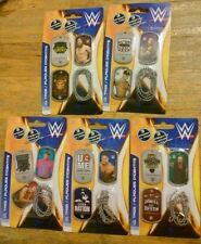 LOT OF 15 WWE I.D. TAGS 5 Packages Sealed New Cena Orton Bryan Reigns Wyatt