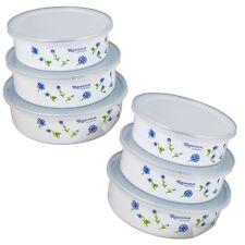 6er Set Frischhalteboxen mit Deckel Stapelbar Schüsselset Frischhaltedosen