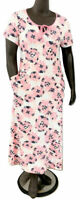 New $46 value Carole Hochman Size XS Pink Stretch Jersey Sunburst Maxi Dress