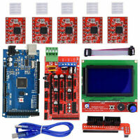 3D Printer Kits for Arduino Reprap RAMPS 1.4 Mega2560 12864 LCD Controller A4988