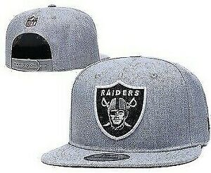 New Era 9Fifty Grey Basic NFL Oakland Raiders , Adult SnapBack Hat/cap