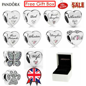 New Genuine PANDORA Sterling Silver ALE S925 Charm Daughter Wife Mum With Box UK