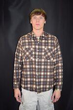Vintage 60's 70's Men's 100% Cotton Plaid Flannel Shirt by Donlin Size Large USA