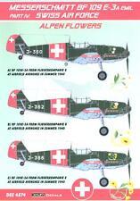 KORA Decals 1/48 MESSERSCHMITT Bf-109E-3A EMIL Swiss Air Force Part 4