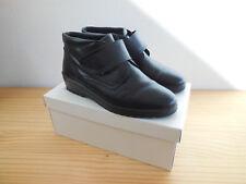 Alba Moda italienische Designer Stiefeletten schwarz Klettverschlu Gr.38/39 Neu
