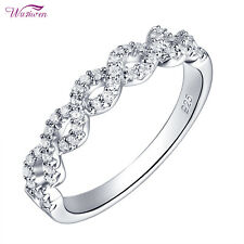 Wedding Engagement Eternity Ring For Women 0.4ct Round White Cz Sterling Silver