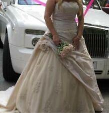 Vestido De Boda Sincerity Bridal Talla 14 incluso longitud del piso velo Taupe/oro