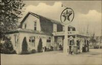 Mansfield PA Locust Camp Filling Gas Station Store Texaco Postcard