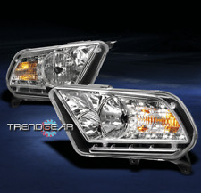 2010-2014 FORD MUSTANG BASE/GT DRL LED CRYSTAL HEADLIGHT LAMP CHROME SIGNAL
