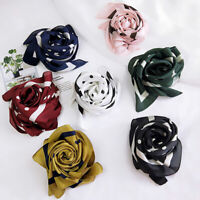 70*70cm Silk Head Neck Wrap Satin Scarves Hair Ties Band Polka Dots Square Scarf
