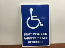 New Handicap Disabled Parking Permit Required Hospital Office Wood Sign State
