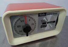 Kultiger Wecker Uhr Fissler Menue Timer Kurzzeitwecker Uhr Vintage ~ 70er Jahre