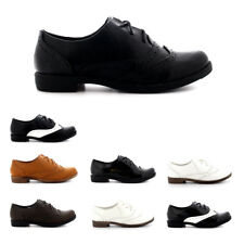 Ladies Formal Brogue Wing Tip Evening Work Vintage Fashion Work Shoes All Sizes