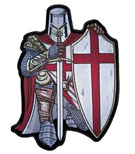 Christian Red And White Crusader Knight Biker Patch FREE SHIP