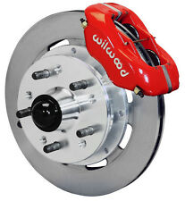 "WILWOOD DISC BRAKE KIT,FRONT,41-56 PACKARD,11.75"" ROTORS,RED CALIPERS"