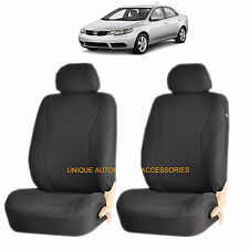 BLACK SPEED AIRBAG COMPATIBLE FRONT LOWBACK SEAT COVERS SET FOR OPTIMA RIO