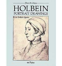 Holbein Portrait Drawings (Dover Art Library)-ExLibrary