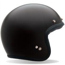 2014 Bell Custom 500 Solid Matte Black Open Face Motorcycle Bobber Helmet XL