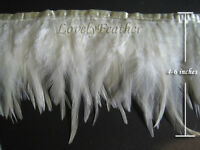 F240 PER FEET-Licorice Flash Rooster Hackle Hen feather fringe Trim Material