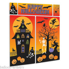 Happy Halloween Haunted House Scene Setter Wall Decorating Kit