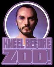 "80's Classic Superman II Zod custom tee ""Kneel Before Zod"" Any Size Any Color"