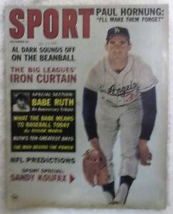 Sport Magazine, August 1963, Sandy Koufax - Dodgers Cover, Excellent Condition!