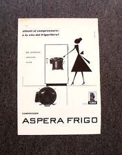 M135- Advertising Pubblicità -1960- COMPRESSORI ASPERA FRIGO.