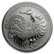 2017 Canada 1/2 oz Proof Silver $10 Lunar Year of the Rooster