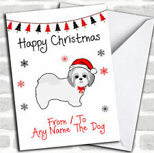 Shitzu de ou au chien Pet Noël personnalisées Carte