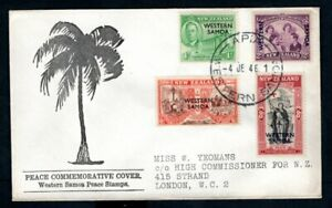 Western Samoa - 1946 Peace Issue First Day Cover