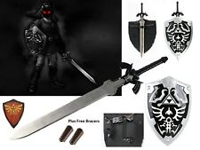 Dark Link Hylian Legend of Zelda Shield and Black Master Sword Gift Combo Set