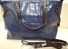 Borsa shopping bag in ecopelle colore blu navy con pochette | PERFETTA