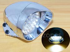 """Chrome 7"""" LED Bullet Headlight Front Light For Harley Bobber Chopper Cruiser New"""