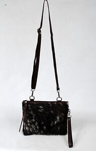 Real Cowhide Cross body Purse Handbag & Hand Clutch  Cow Hide Leather  SA-6633