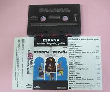 MC ANDRES SEGOVIA Espana italy MCA RECORDS 25 0896-4 no cd lp vhs dvd